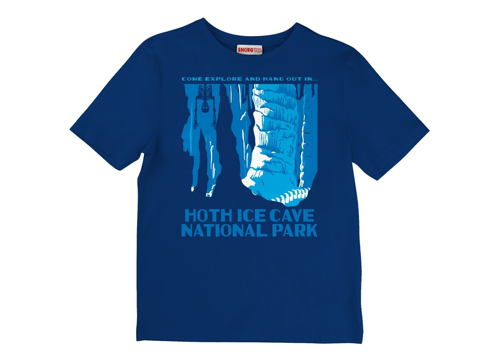 Hoth Ice Cave National Park on Kids T-Shirt