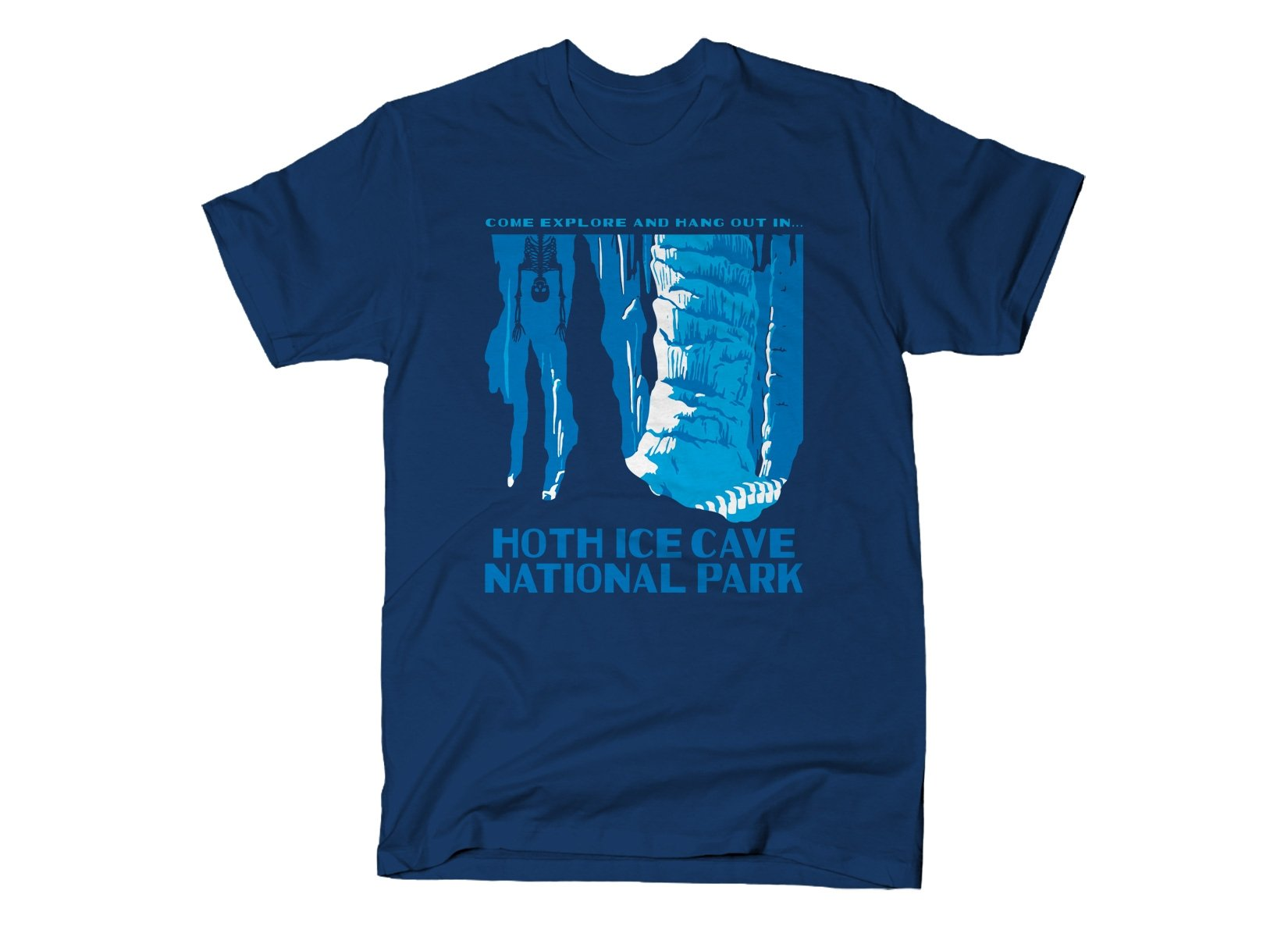 Hoth Ice Cave National Park on Mens T-Shirt