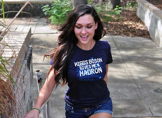 Higgs Boson Gives Me A Hadron on Juniors T-Shirt