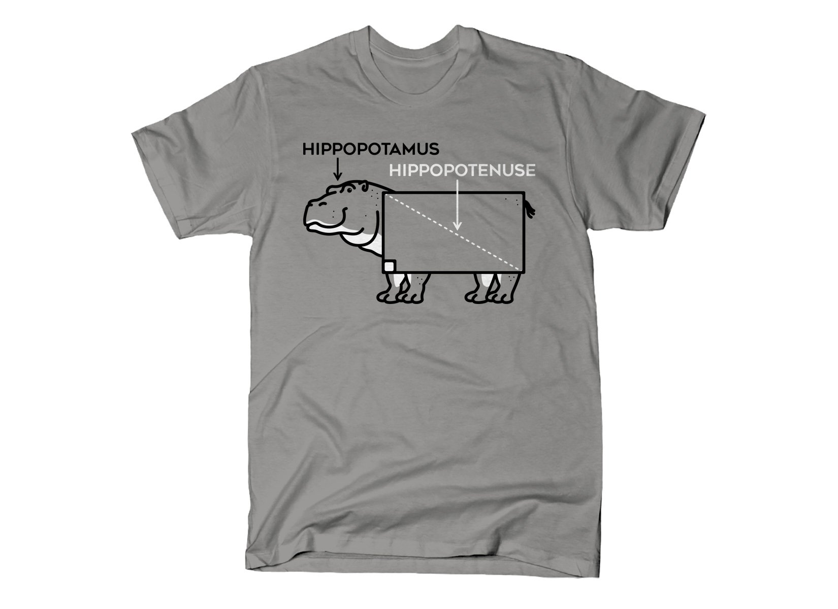Hippopotenuse on Mens T-Shirt