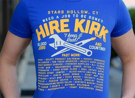 Hire Kirk on Juniors T-Shirt