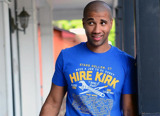 Hire Kirk on Mens T-Shirt
