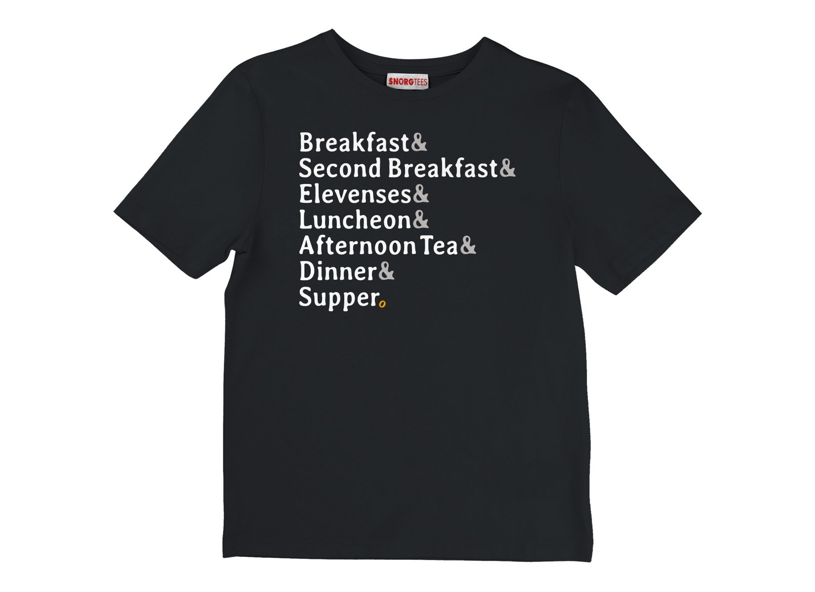 Typical Daily Meals on Kids T-Shirt