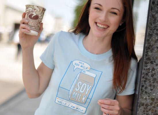 Hola, Soy Milk on Juniors T-Shirt