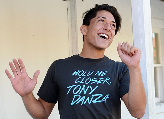 Hold Me Closer, Tony Danza on Mens T-Shirt