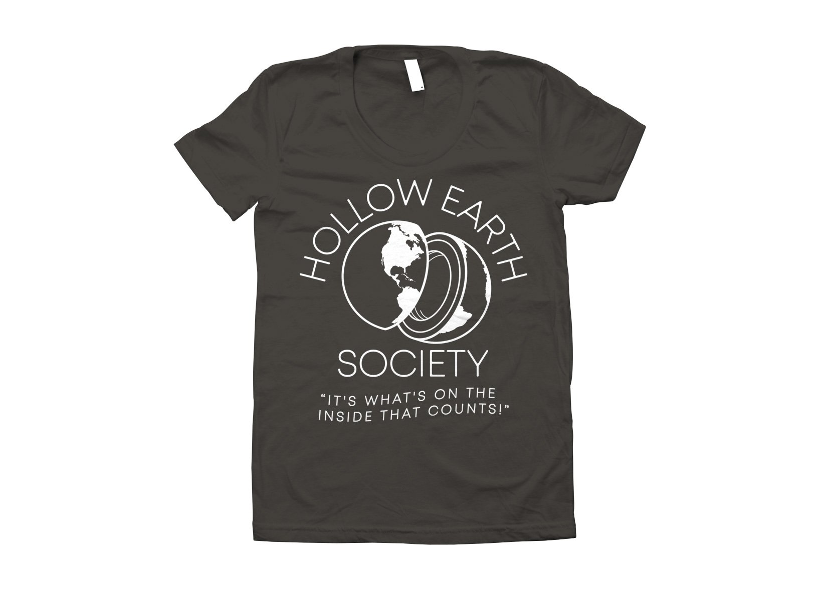 Hollow Earth Society on Juniors T-Shirt