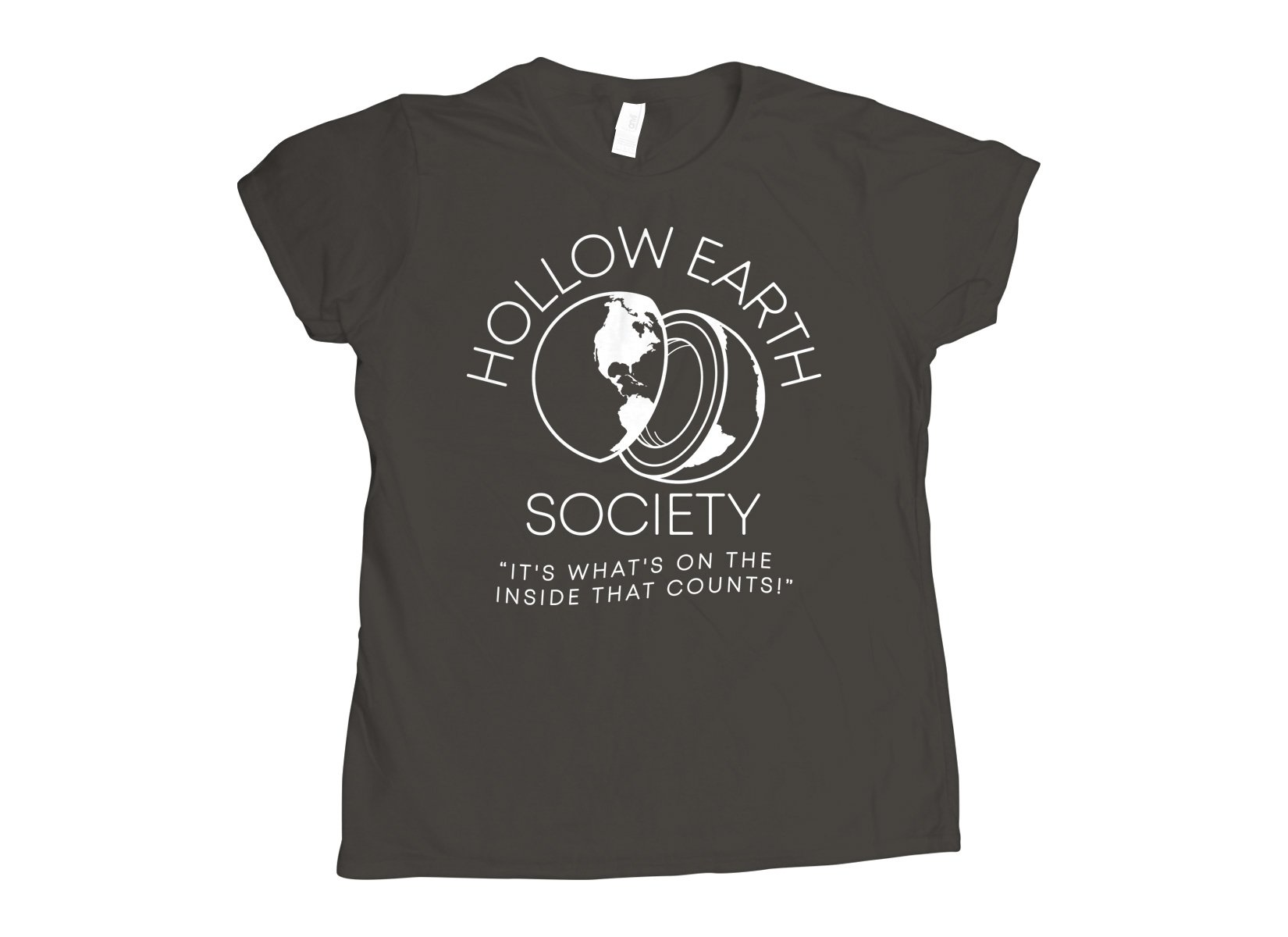 Hollow Earth Society on Womens T-Shirt