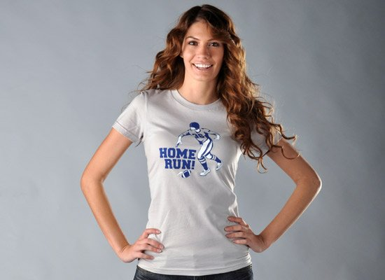 Home Run! on Juniors T-Shirt