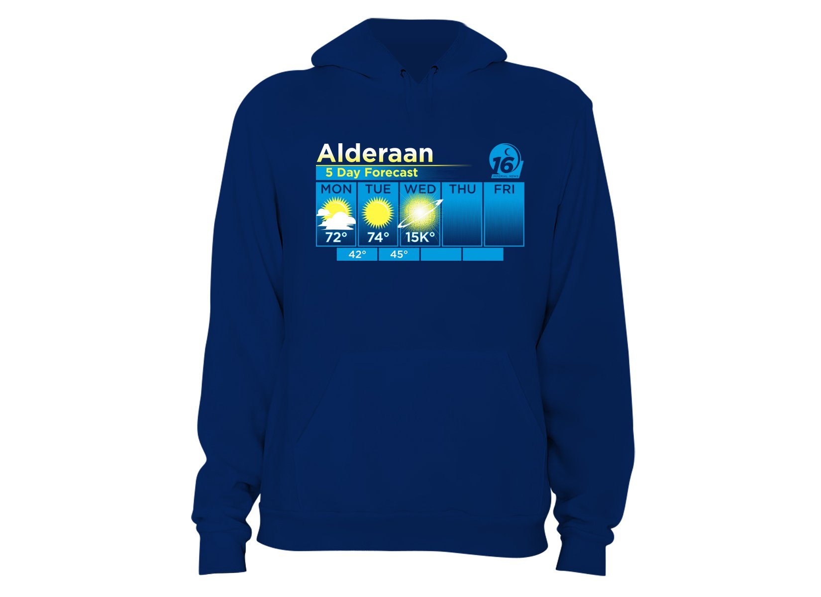 Alderaan 5 Day Forecast on Hoodie