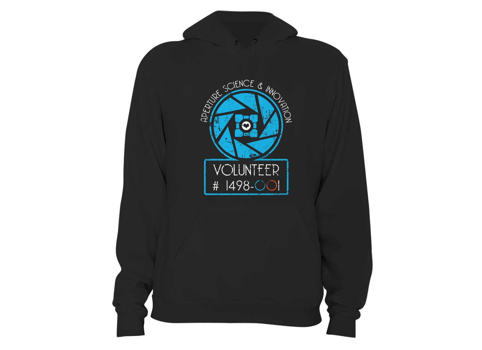 Aperture Science Volunteer on Hoodie
