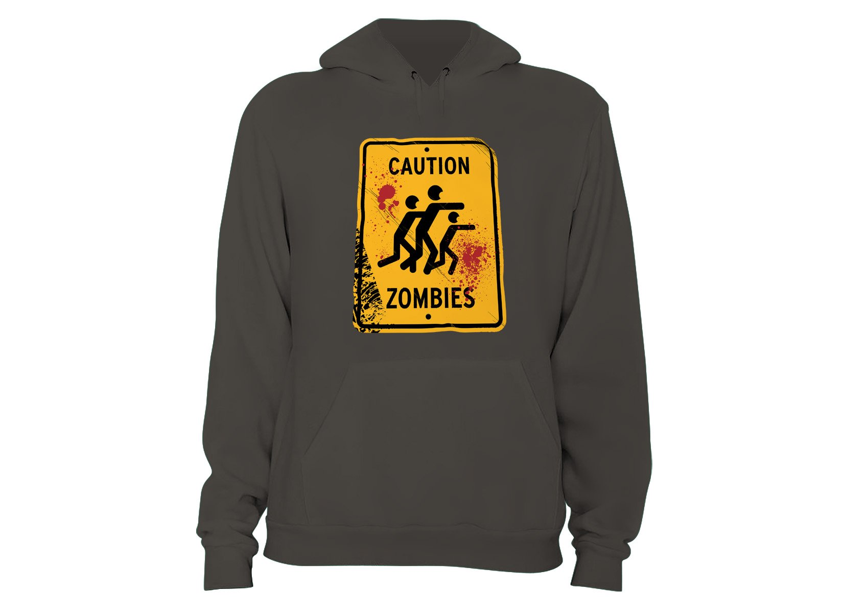 Caution Zombies on Hoodie