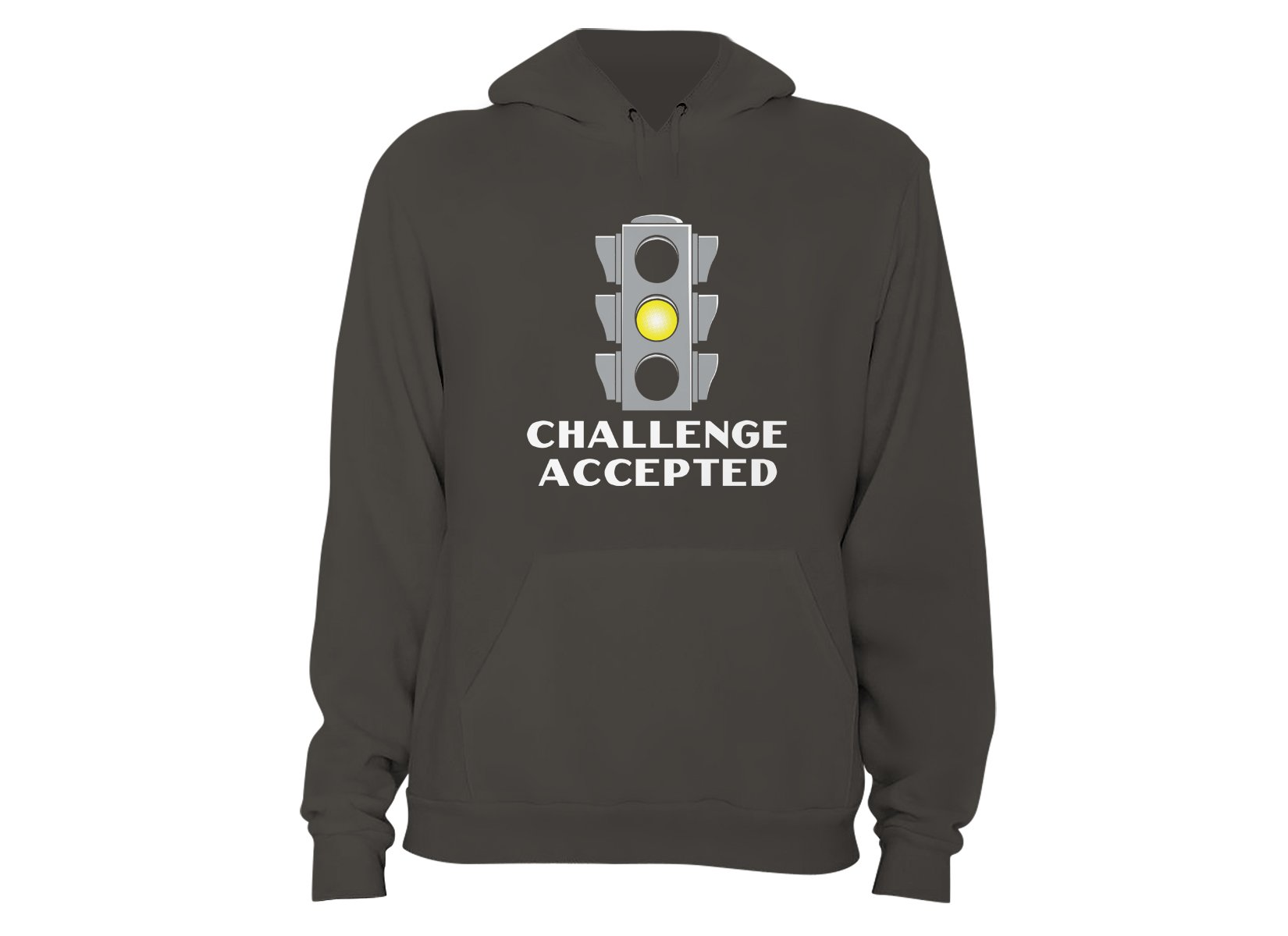 Challenge Accepted Stoplight on Hoodie