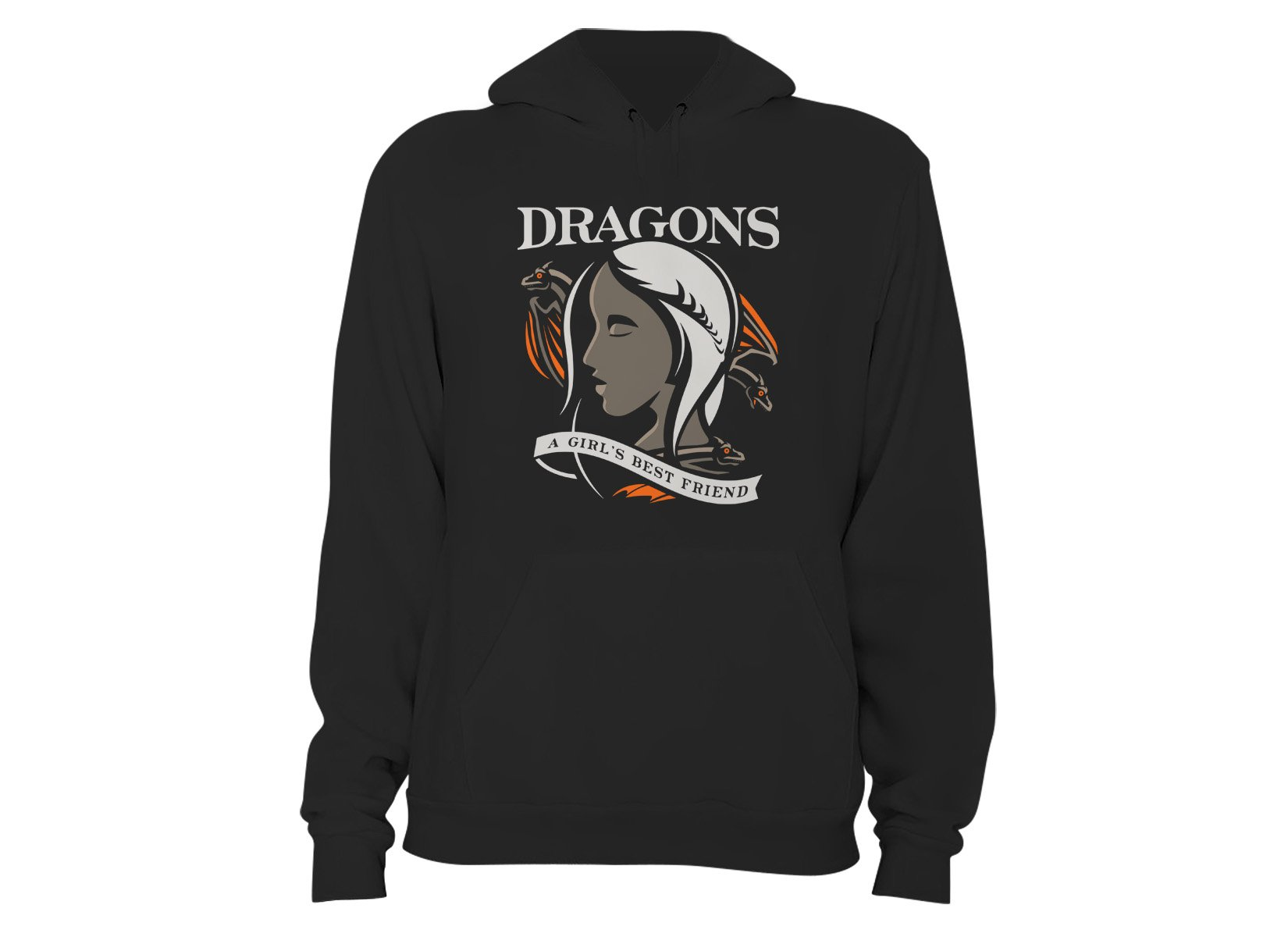Dragons Are A Girl's Best Friend on Hoodie