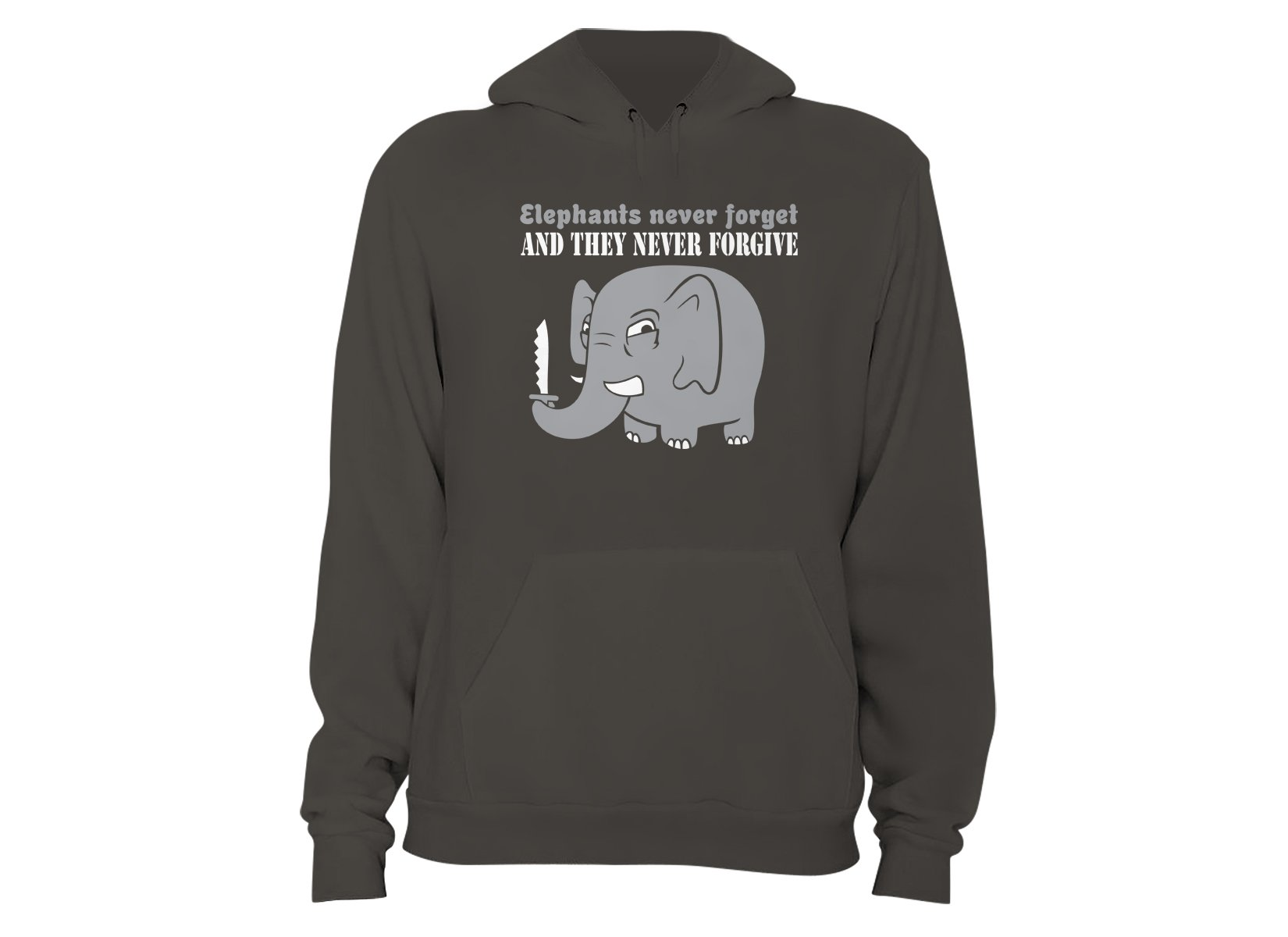 Elephants Never Forgive on Hoodie