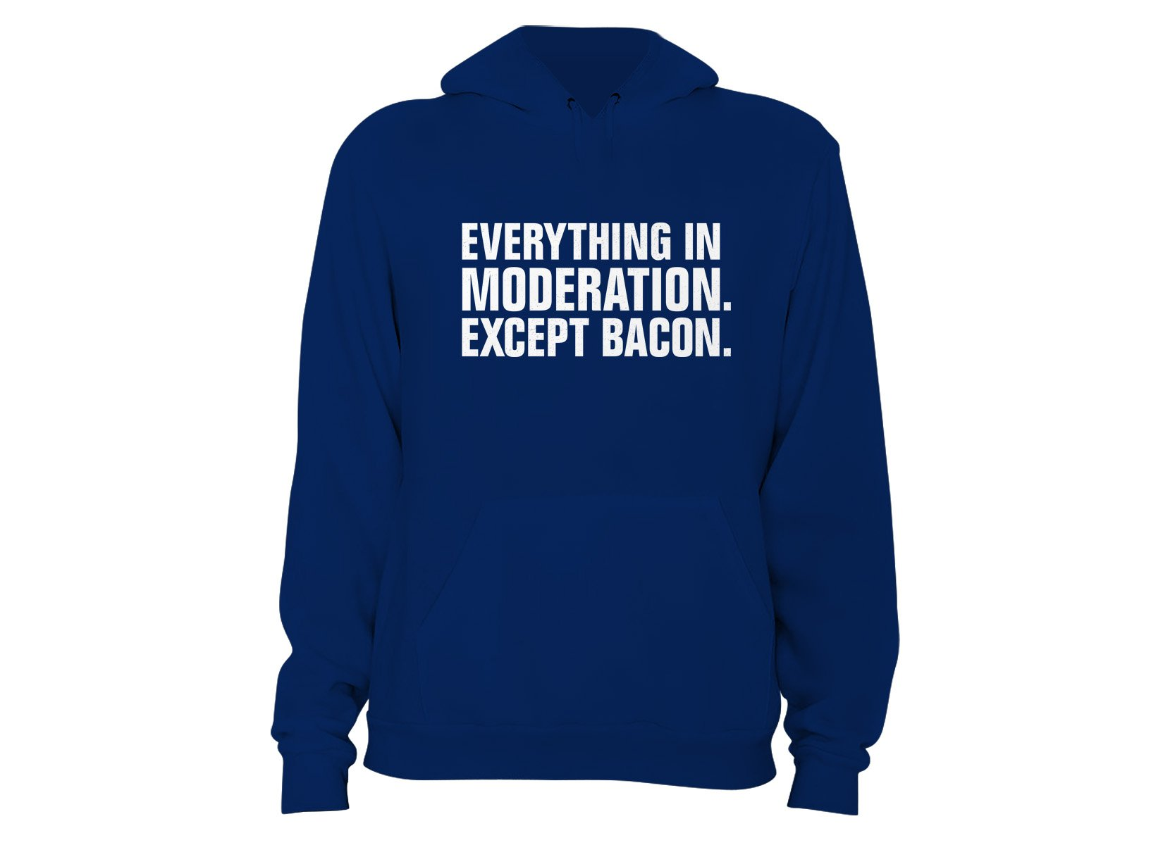 Everything In Moderation. Except Bacon. on Hoodie