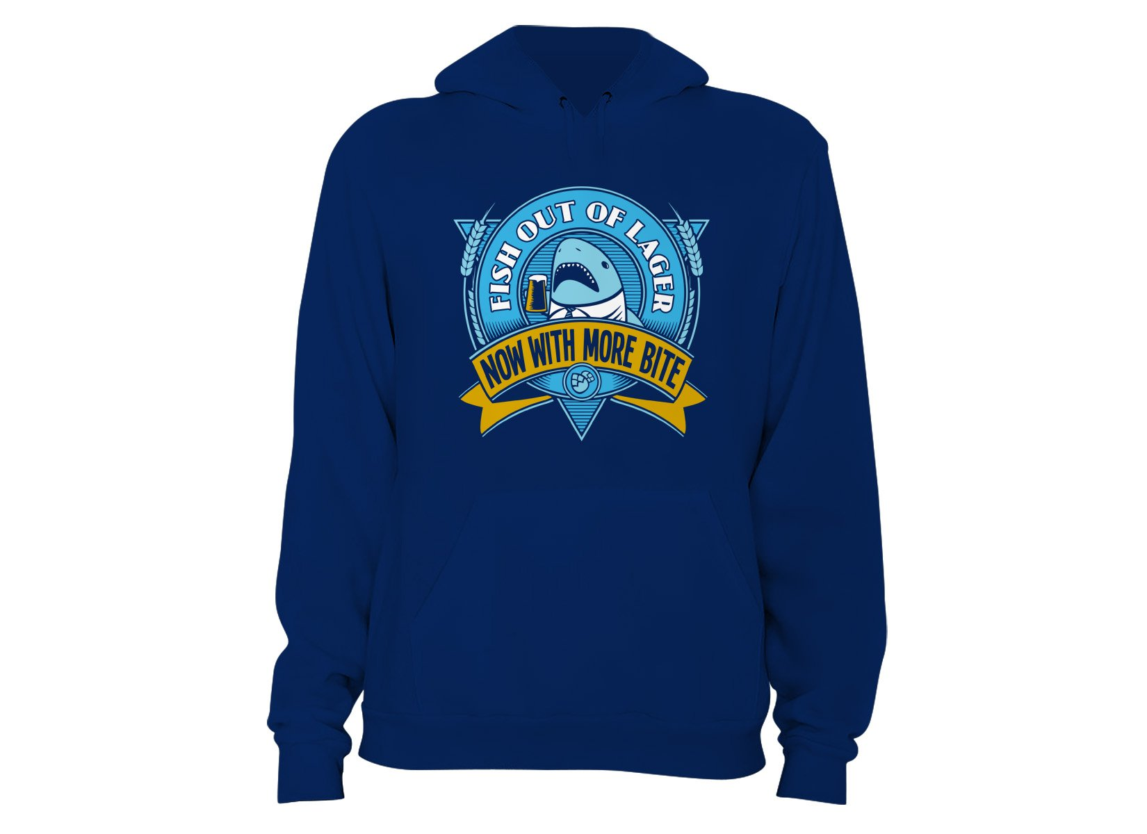 Fish Out Of Lager on Hoodie