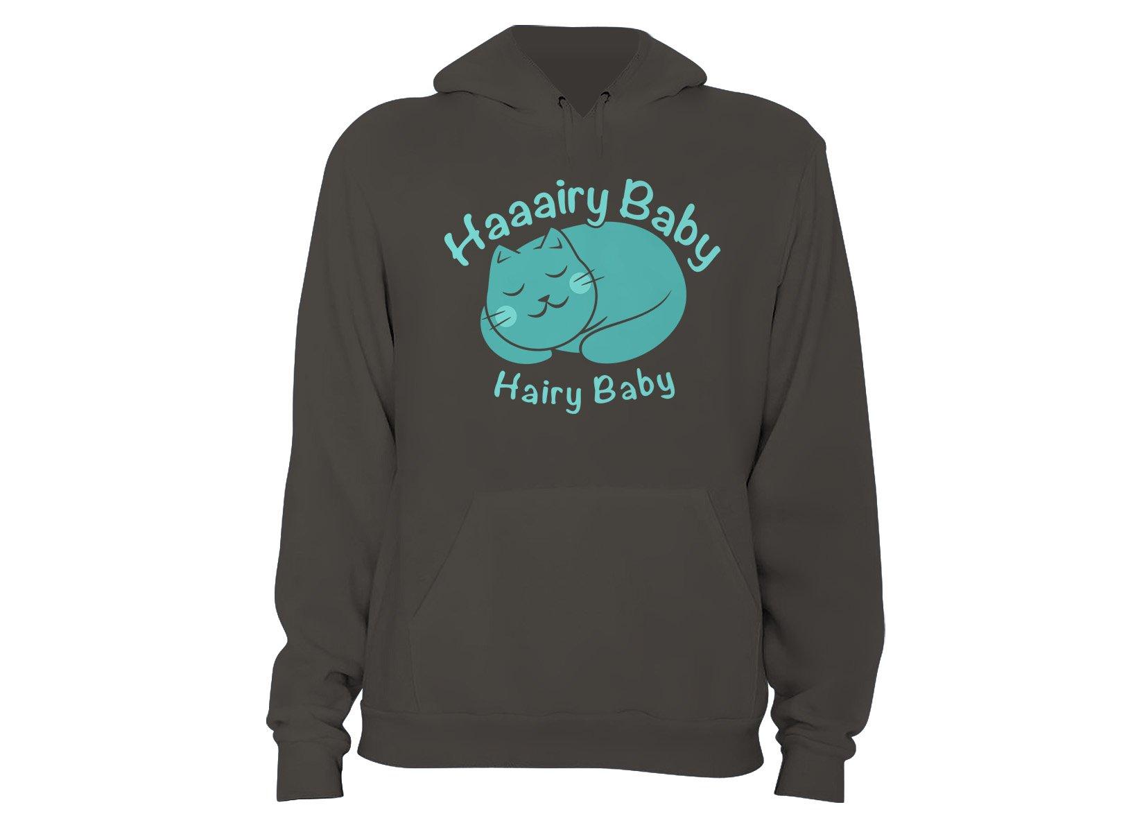 Hairy Baby on Hoodie