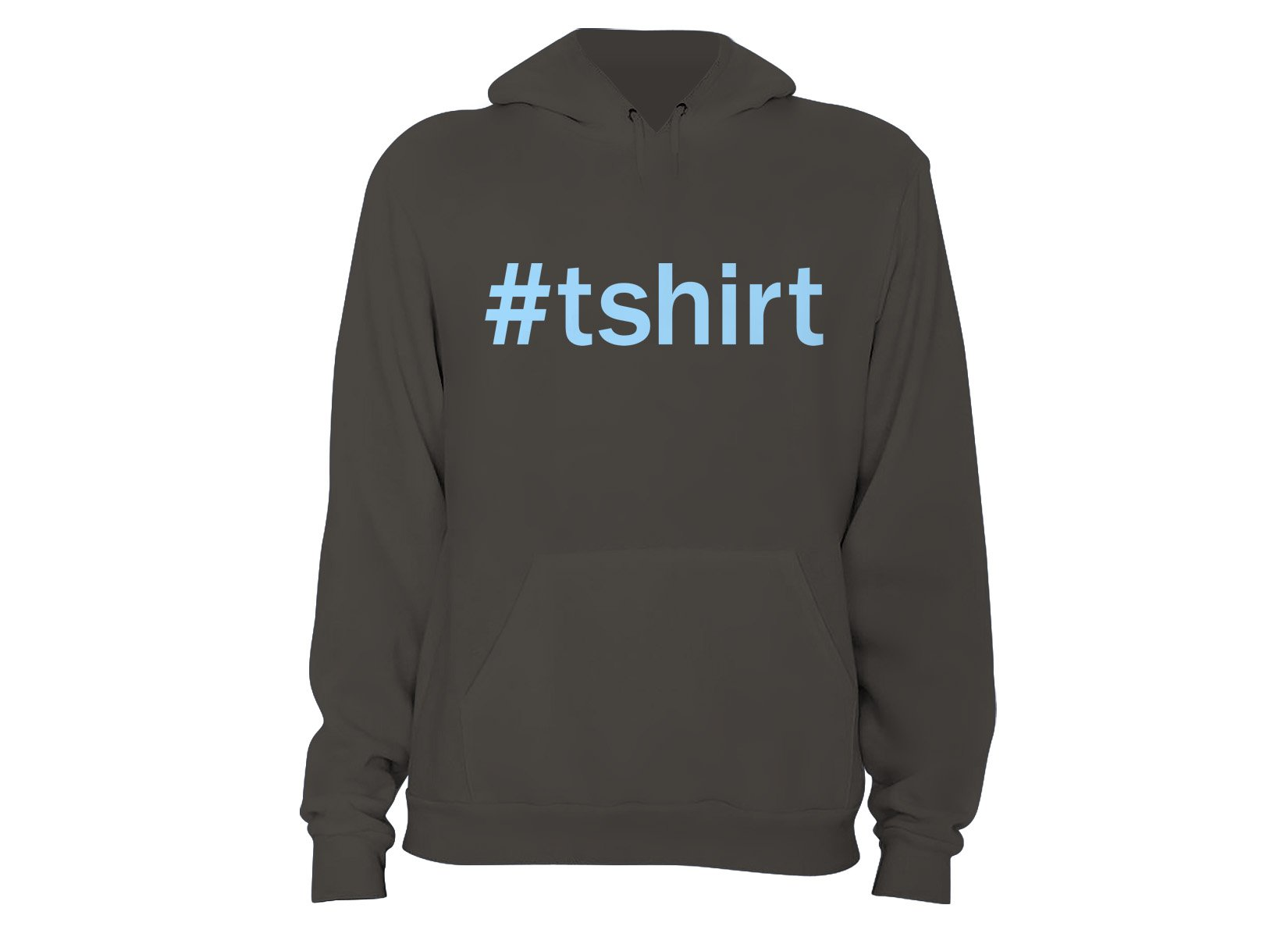 Hashtag T-Shirt on Hoodie