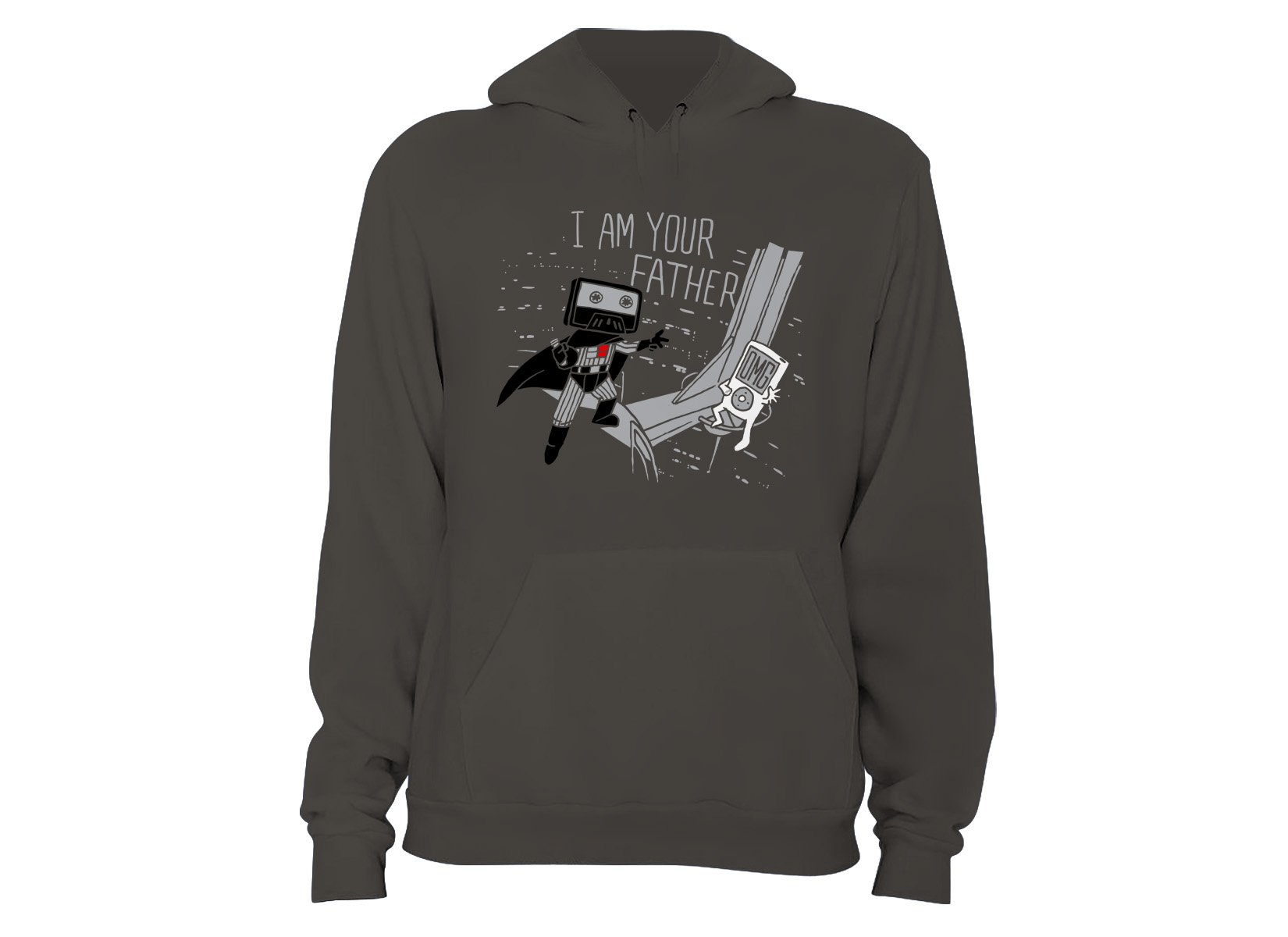 I Am Your Father Cassette on Hoodie
