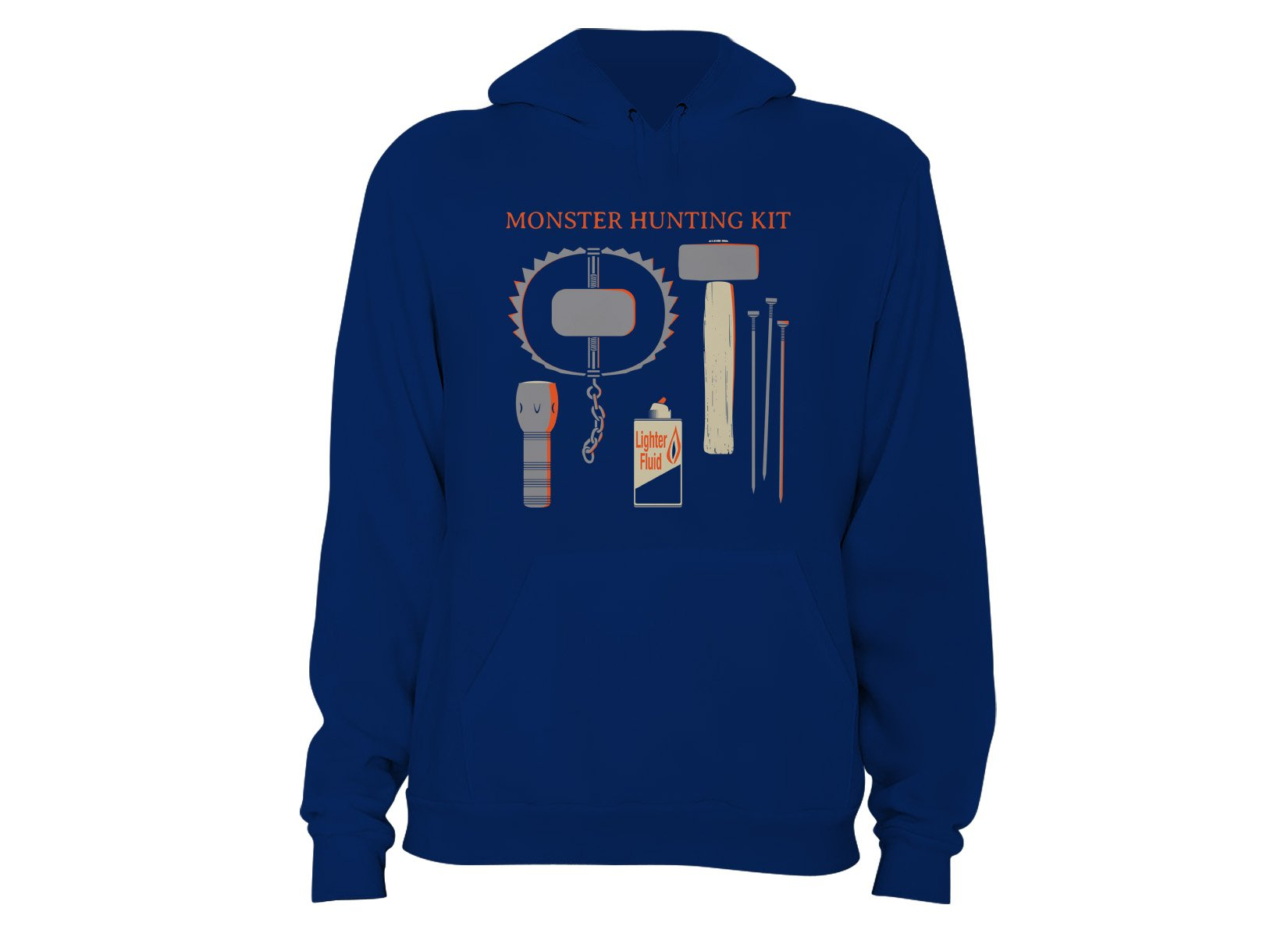 Monster Hunting Kit on Hoodie