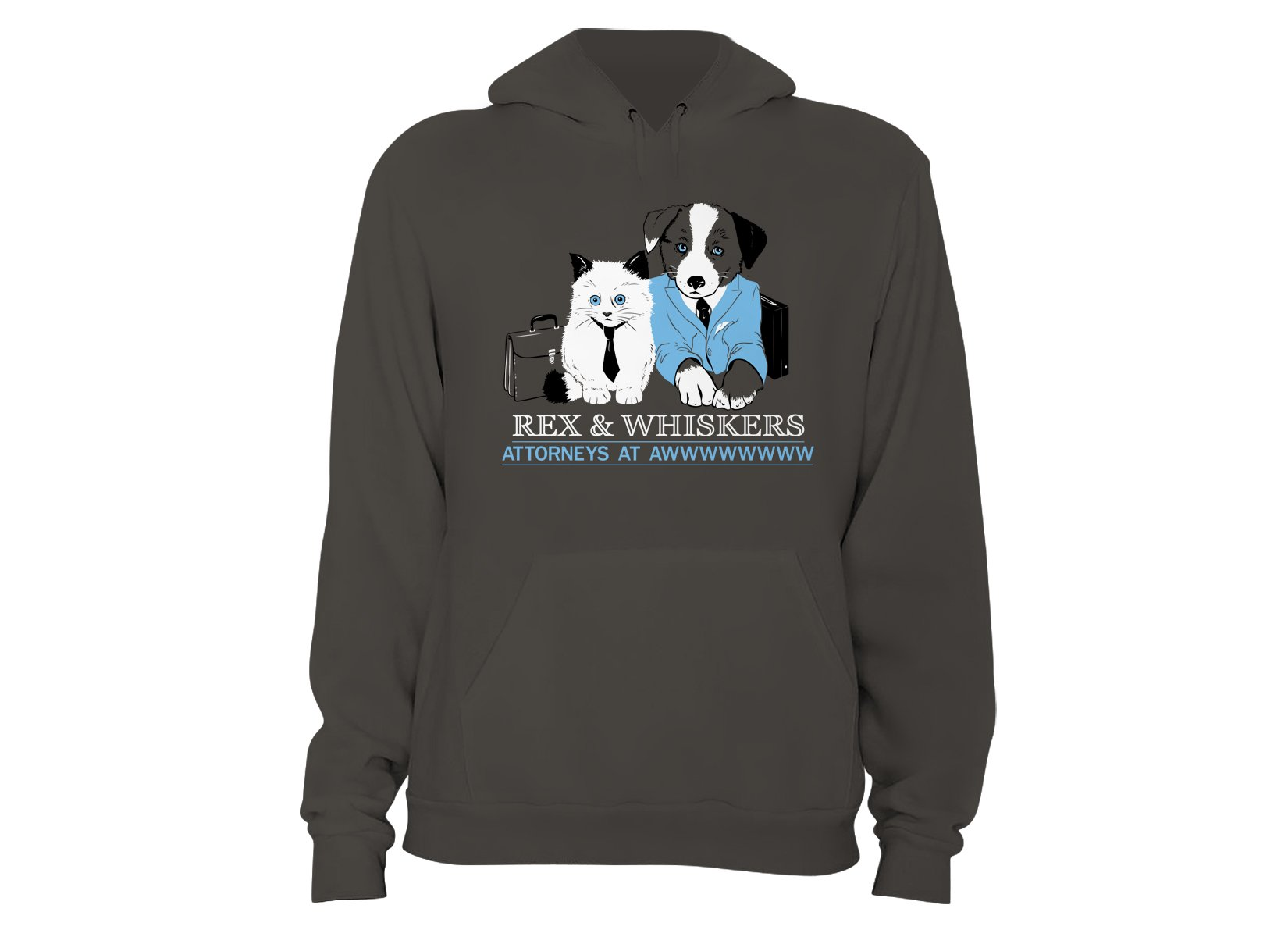 Rex and Whiskers Attorneys on Hoodie