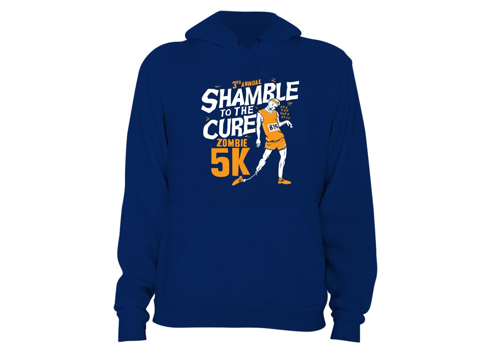 Shamble To The Cure Zombie 5K on Hoodie