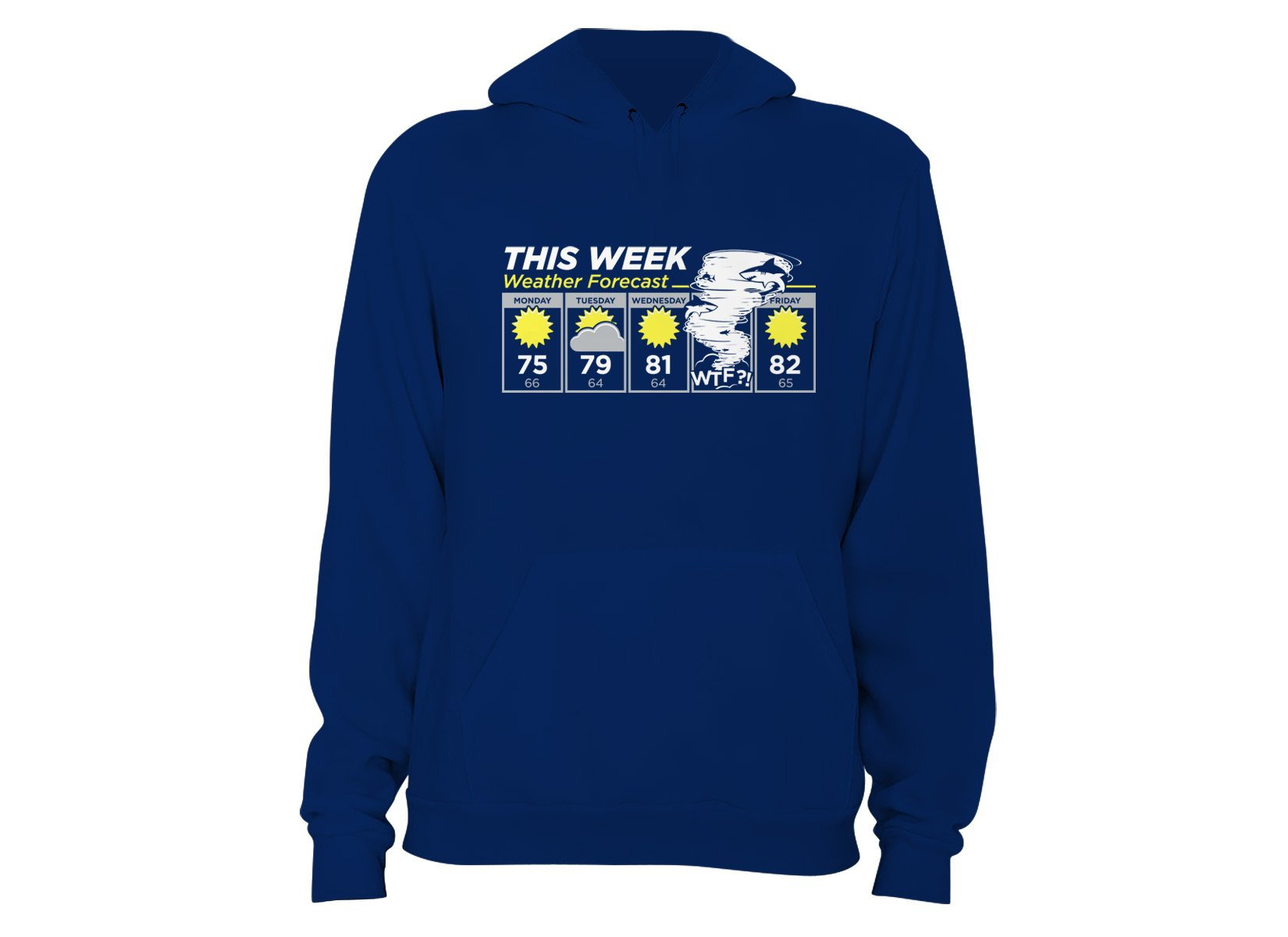 Shark Weather Forecast on Hoodie