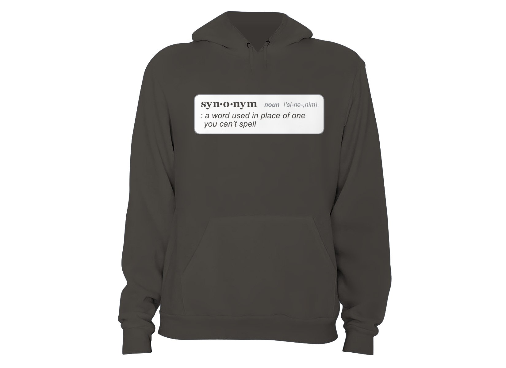 Synonym Definition on Hoodie