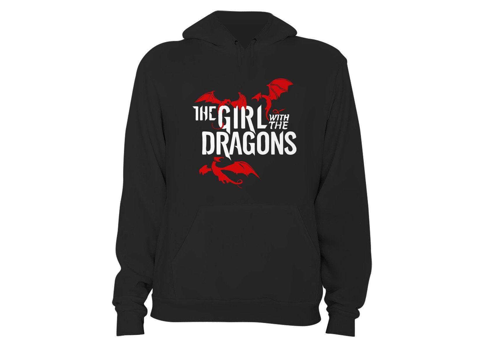 The Girl With The Dragons on Hoodie