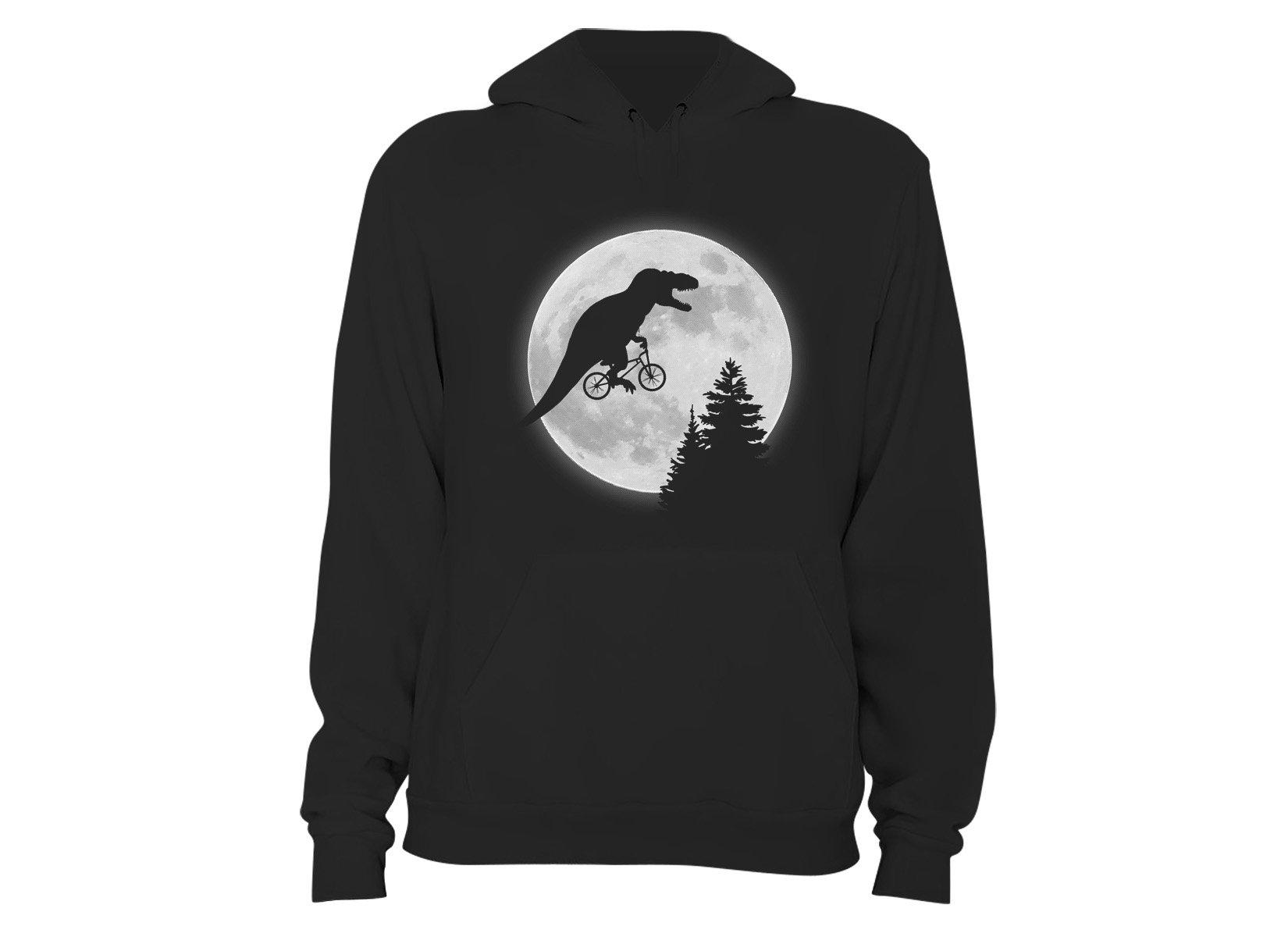 T-Rex Moon on Hoodie