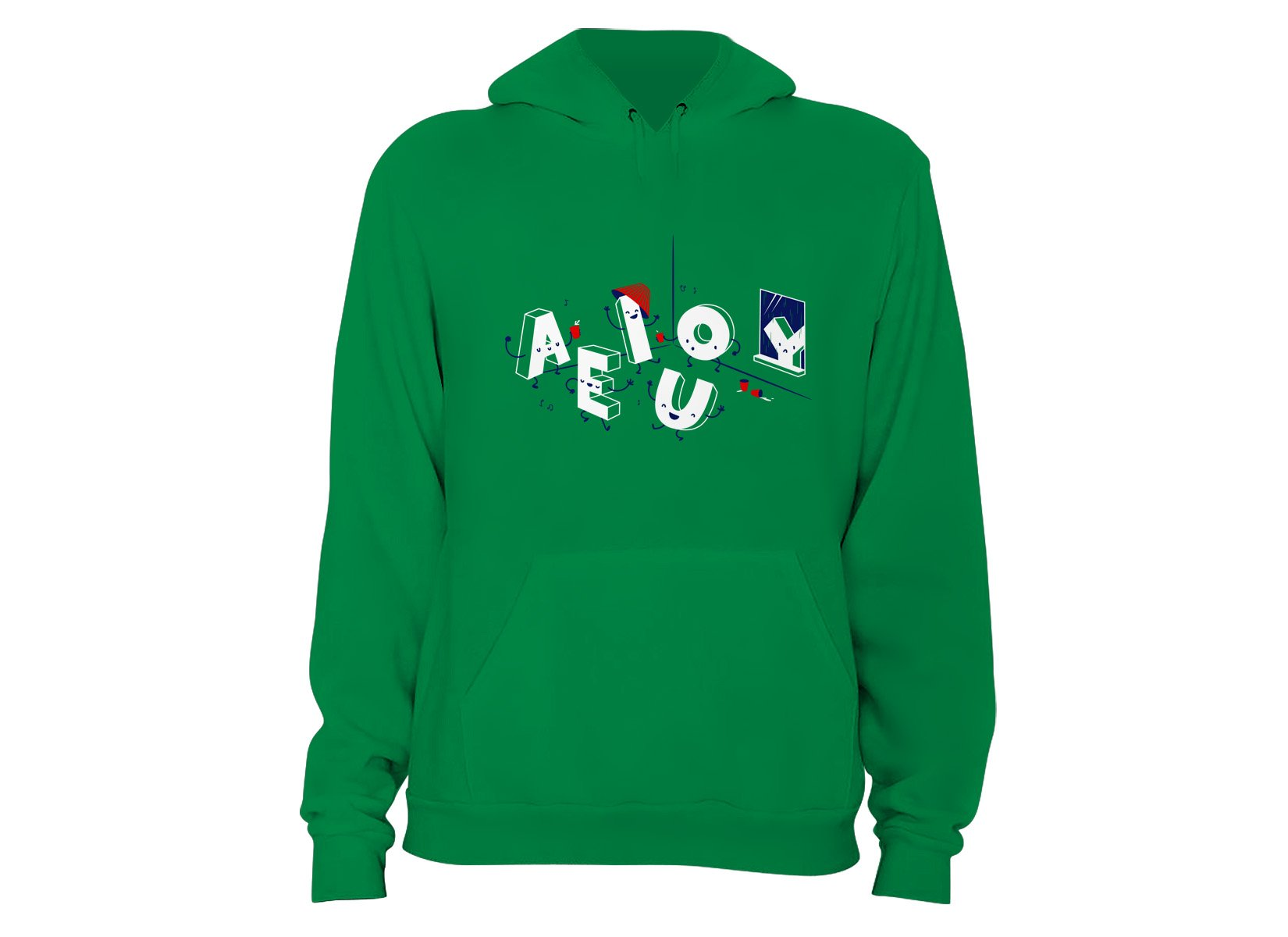 Vowel Party Time on Hoodie