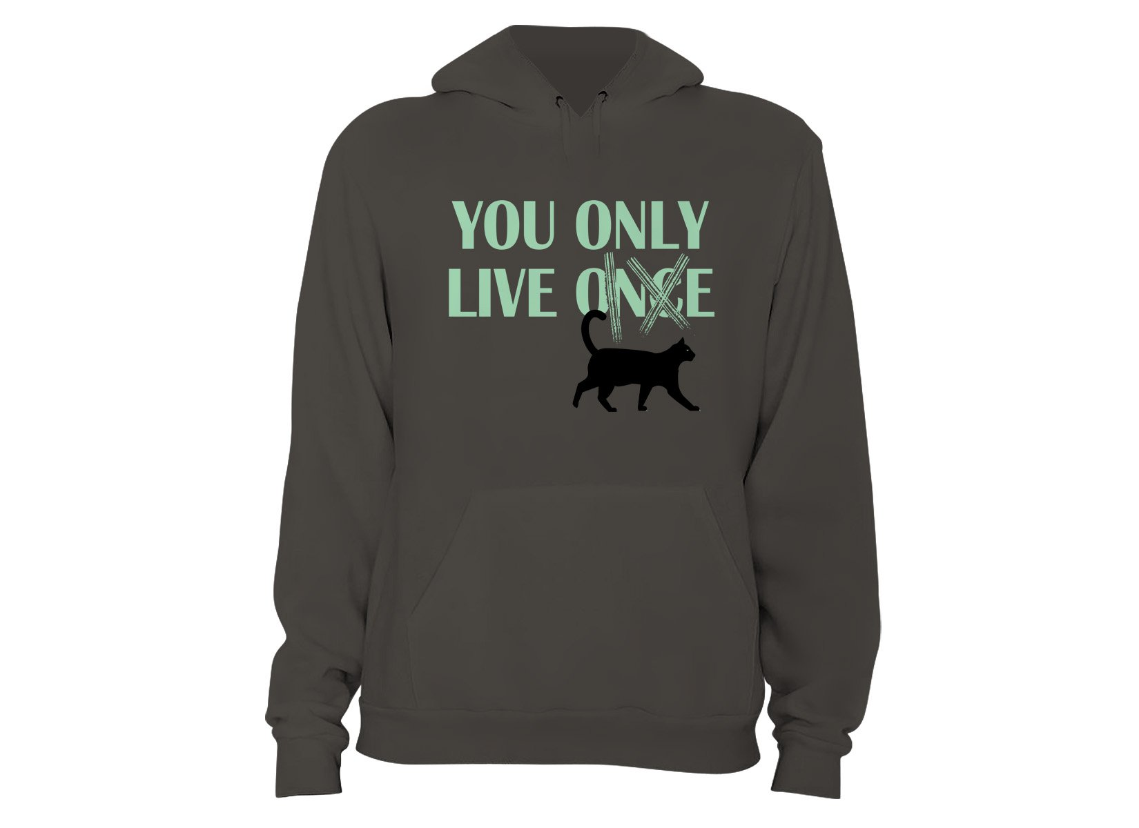 You Only Live 9 on Hoodie