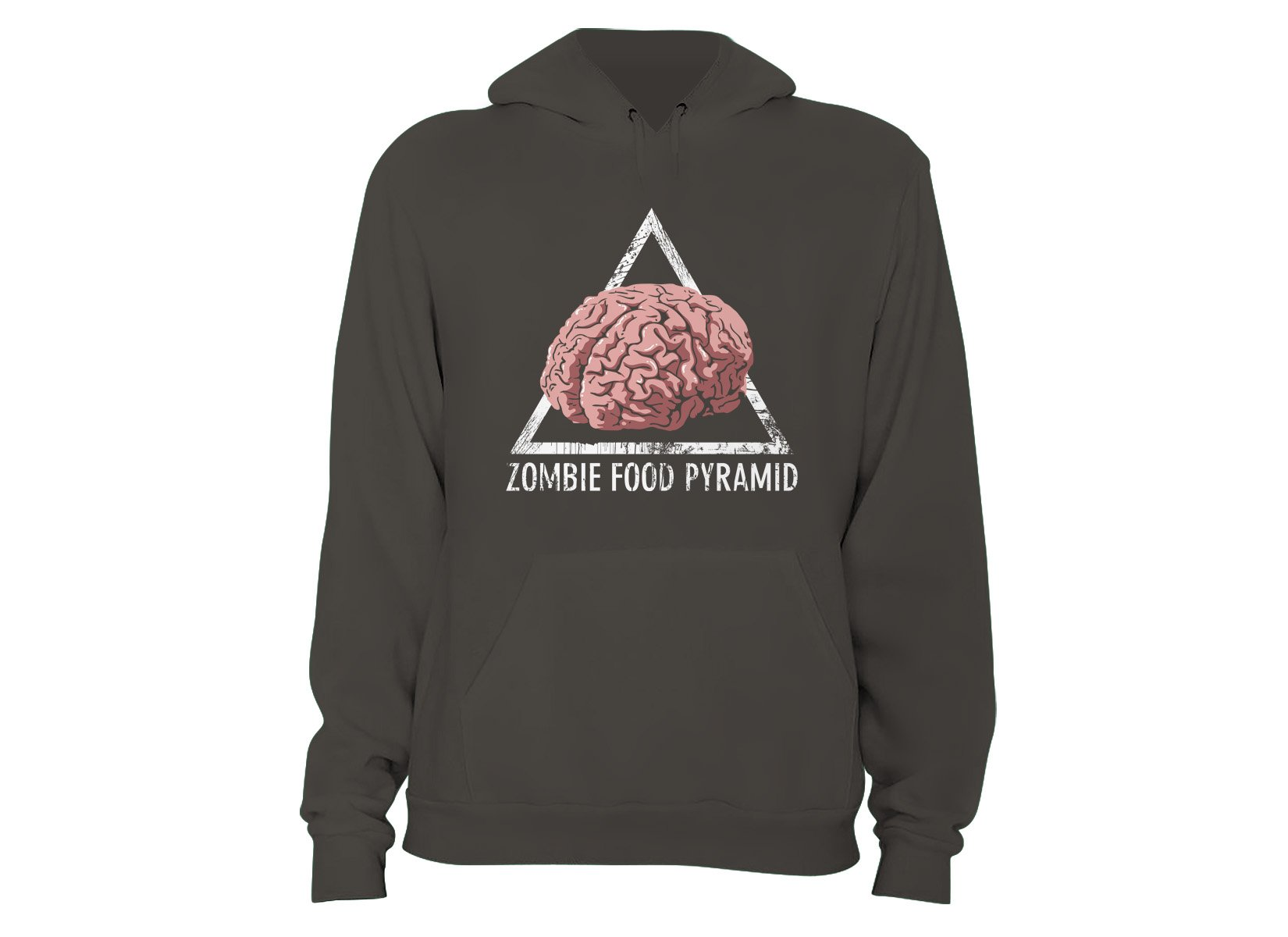 Zombie Food Pyramid on Hoodie