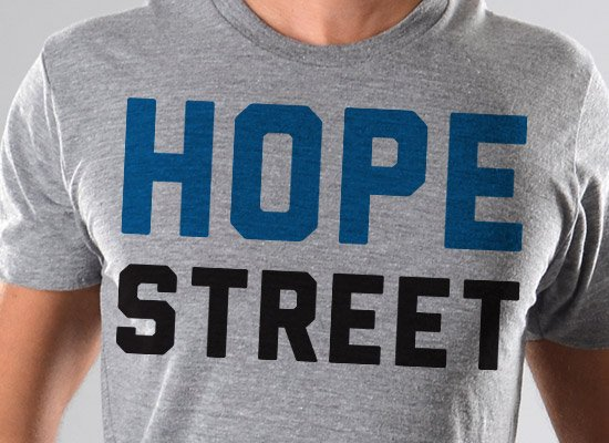Hope Street on Mens T-Shirt