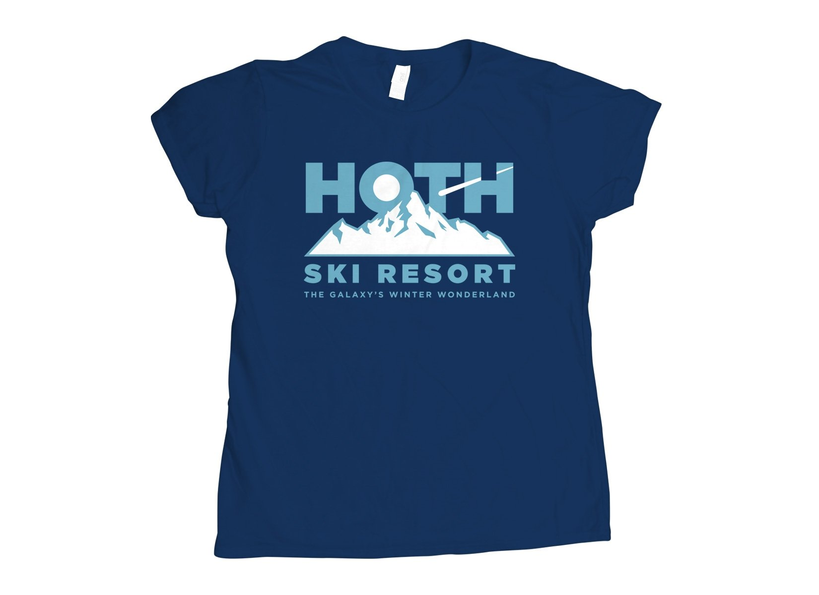 Hoth Ski Resort on Womens T-Shirt