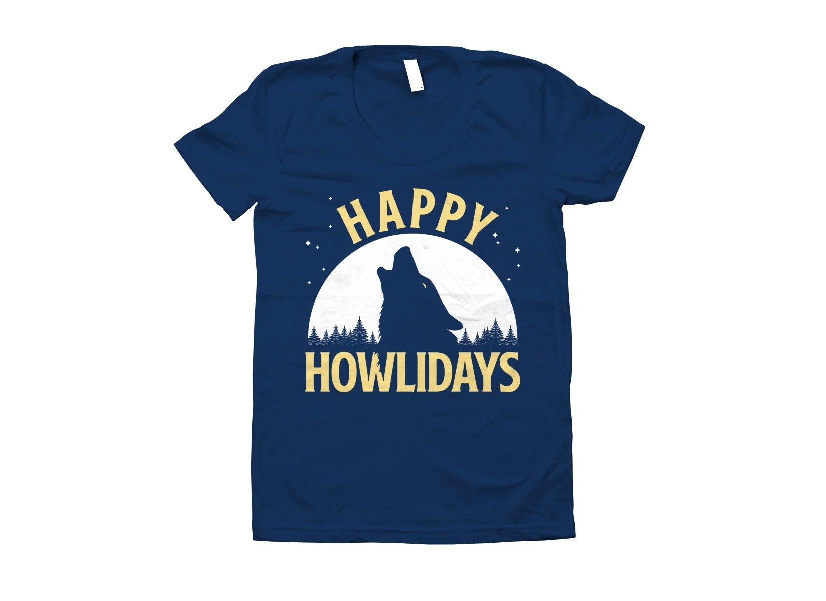 Happy Howlidays on Juniors T-Shirt