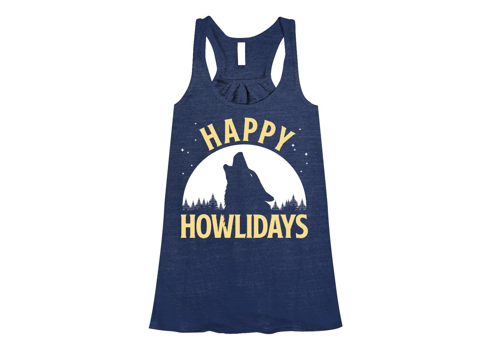 Happy Howlidays on Womens Tanks T-Shirt