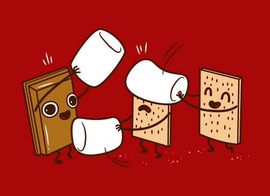 How S'mores Are Made on Mens T-Shirt