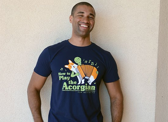 How To Play The Acorgian on Mens T-Shirt