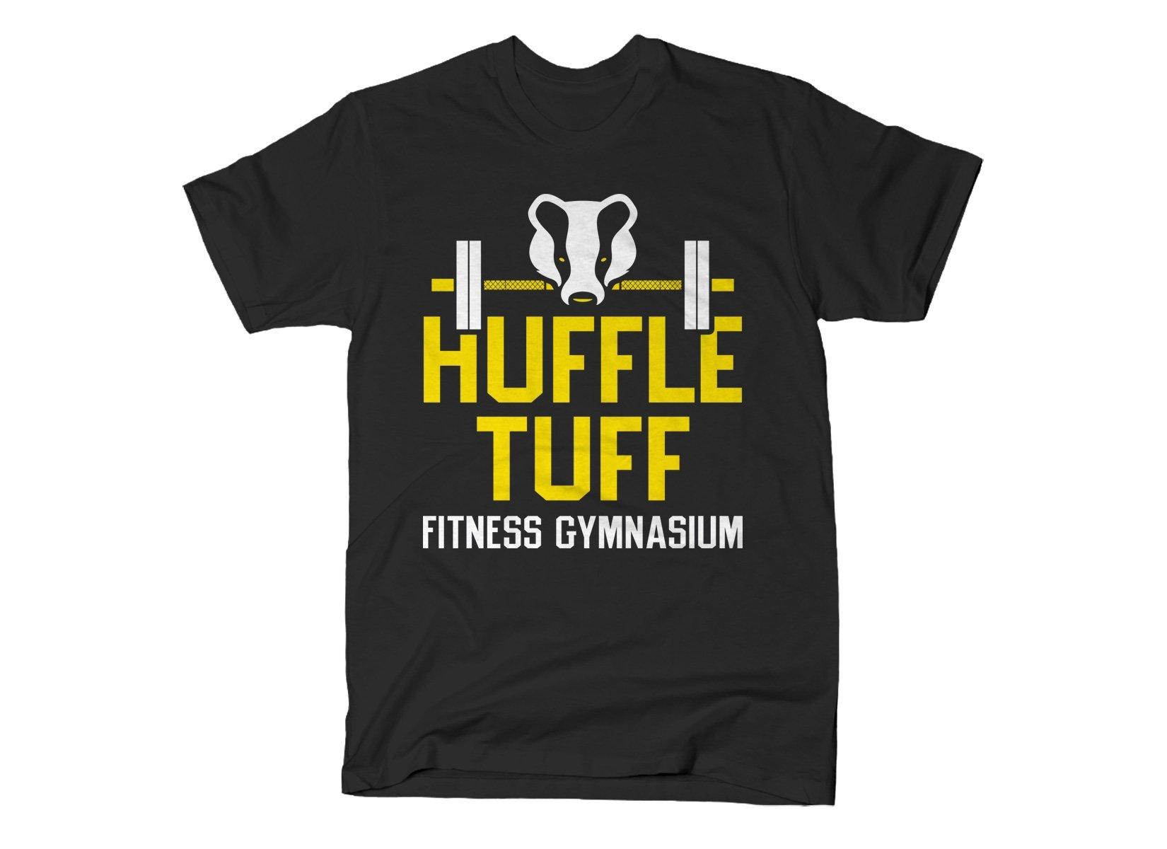 Huffle Tuff Gym on Mens T-Shirt