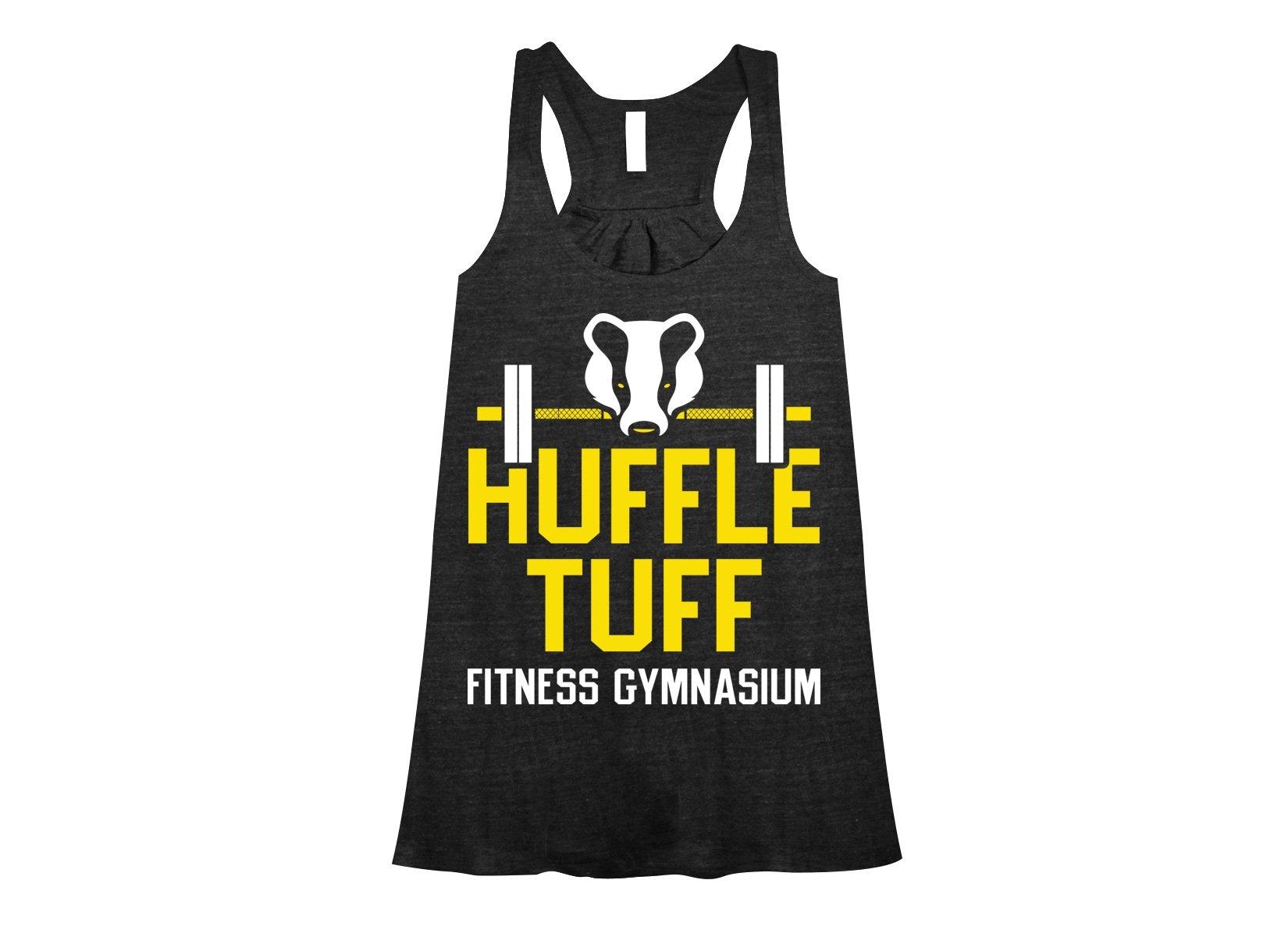 Huffle Tuff Gym on Womens Tanks T-Shirt