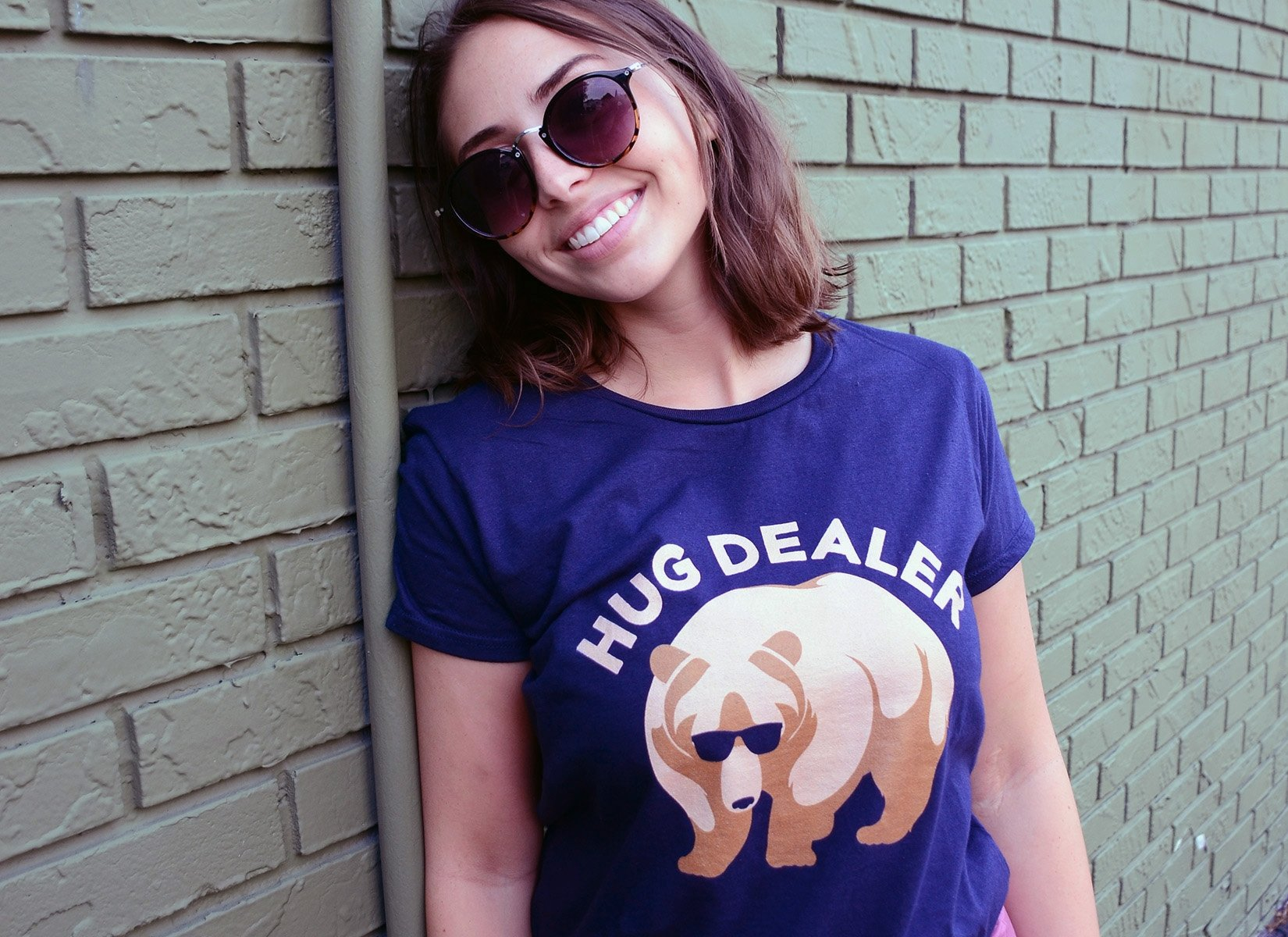 Hug Dealer on Womens T-Shirt