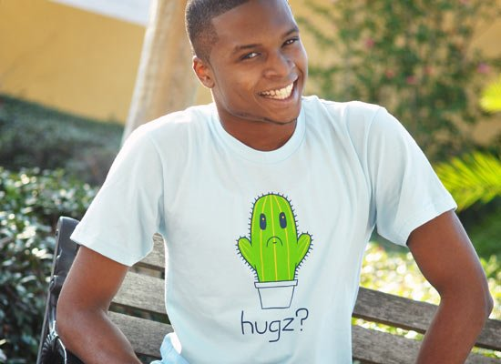 Hugz? Cactus on Mens T-Shirt