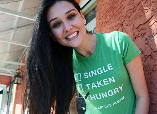 Single, Taken, Hungry on Juniors T-Shirt