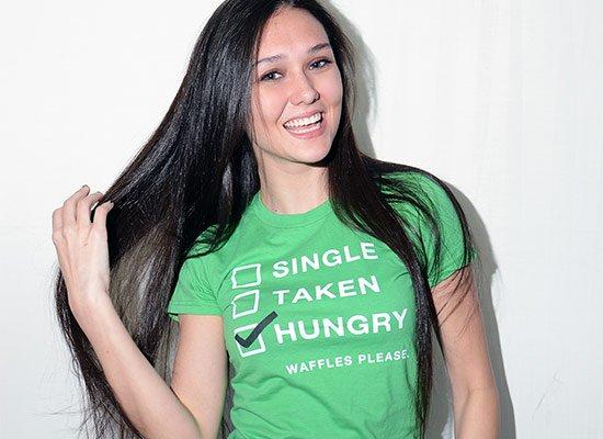 Single, Taken, Hungry on Juniors T-Shirt