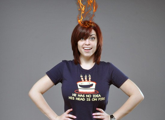 He Has No Idea His Head Is On Fire on Juniors T-Shirt