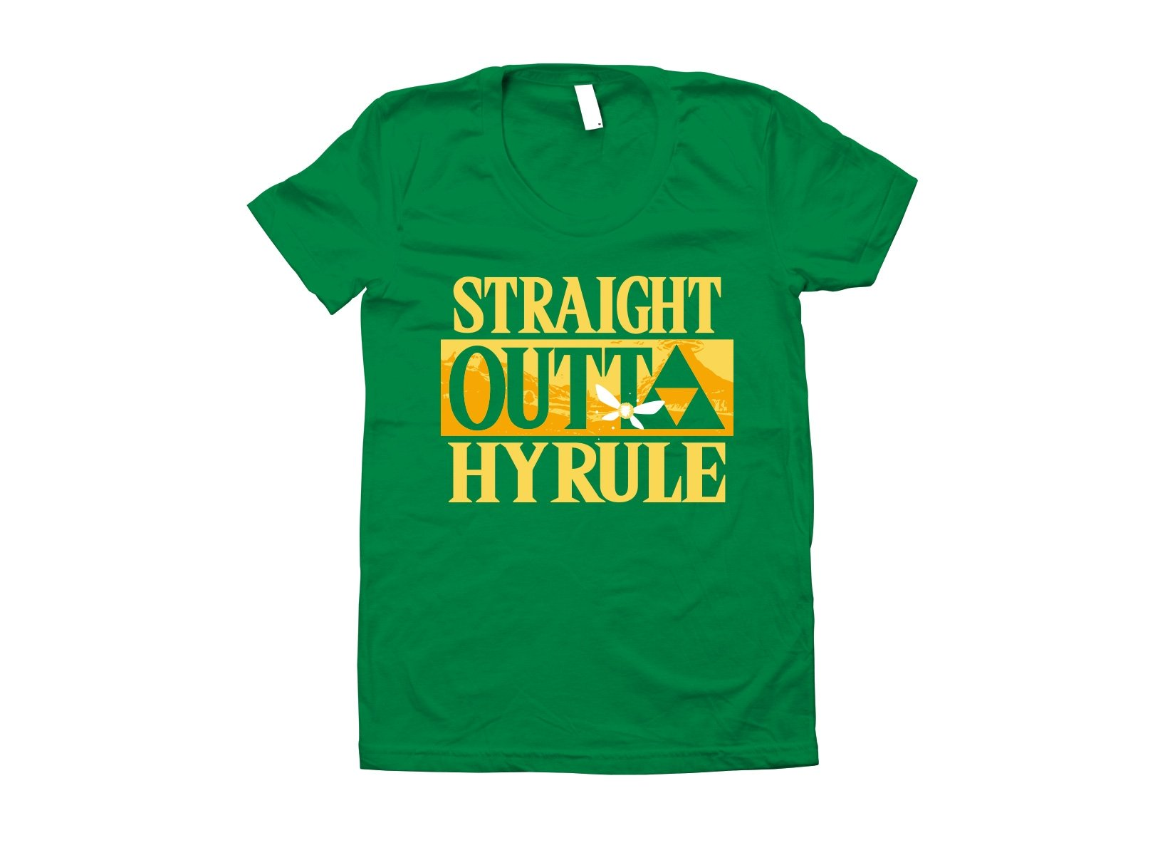 Straight Outta Hyrule on Juniors T-Shirt
