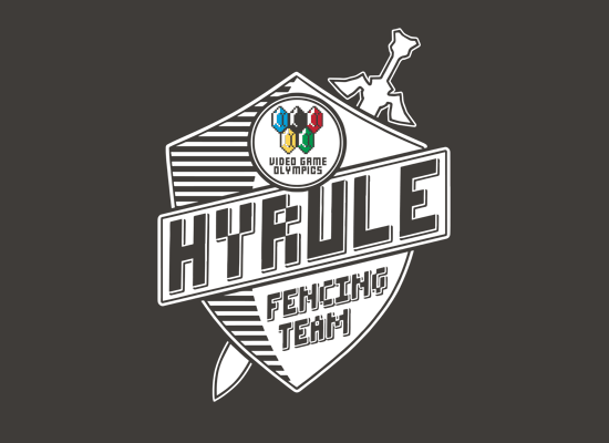 Hyrule Fencing Team on Mens T-Shirt