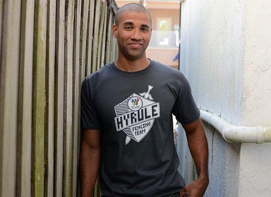 Hyrule Fencing Team on Mens T-Shirt