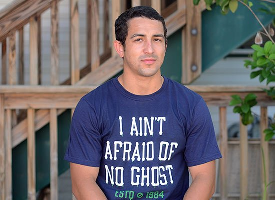 I Ain't Afraid Of No Ghost on Mens T-Shirt